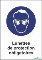 Lunettes de protection obligatoires