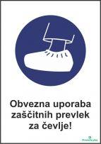 Obvezna uporaba zaščitnih prevlek za čevlje