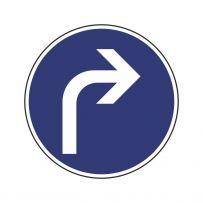 Vorgeschriebene Fahrtrichtung: Rechts abbiegen!-piktogramme