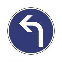 Vorgeschriebene Fahrtrichtung: Links abbiegen!-piktogramme