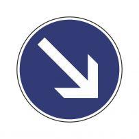 Den zu benützenden Fahrstreifen rechts!-piktogramme