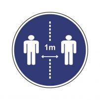 1m Abstand halten!-piktogramme
