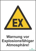 Warnung vor Explosionsfähiger Atmosphäre