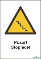 Pozor! stopnice
