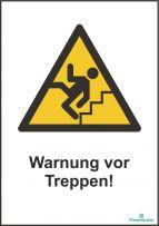 Warnung vor Treppen