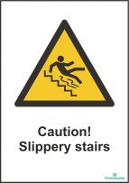 Caution! Slippery stairs