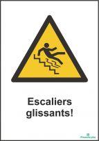 Escaliers glissants