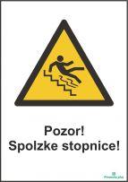 Pozor! Spolzke stopnice