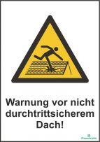 Warnung vor nicht durchtrittsichere dach