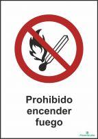 Prohibido encender fuego