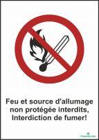 Feu et source d'allumage non protégée interdits, Interdiction de fumer
