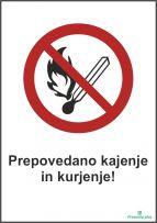 Prepovedano kajenje in kurjenje