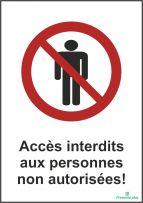 Accès interdits aux personnes non autorisées