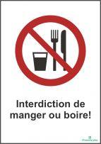 Interdiction de manger ou boire
