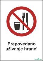 Prepovedano uživanje hrane