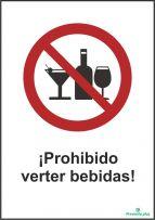 ¡Prohibido verter bebidas!