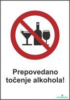 Prepovedano točenje alkohola