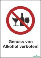 Genuss von Alkohol verboten!