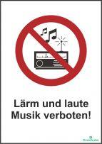 Lärm und laute Musik verboten!
