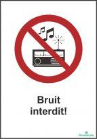 Bruit interdit!