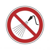 Mit Wasser spritzen verboten!-piktogramme