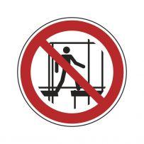 Benutzen des unvollständigen Gerüstes verboten!-piktogramme