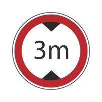 Verbot für Fahrzeuge über angegebene Höhe einschl. Ladung!-piktogramme