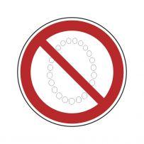 Bedienung mit Halskettte verboten!-piktogramme
