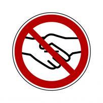 Händeschütteln verboten!-piktogramme